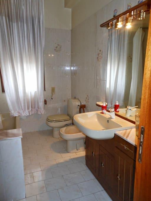 bagno con vasca in comune