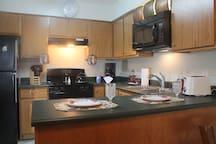 Designer Kitchen. Dishware n Utensils for full service