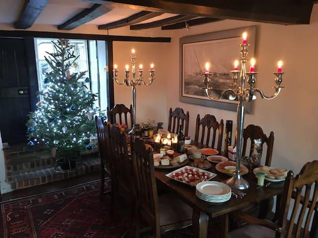 Dining Hall at Christmas