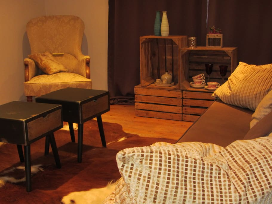 Relax and enjoy..cosy sitting area in your room...