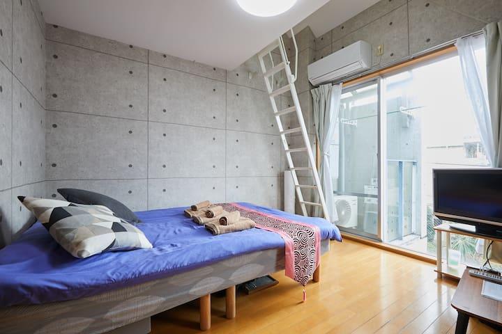 H97_【Reduction in Price】4min SHIBUYA/Cozy 1BR/Loft