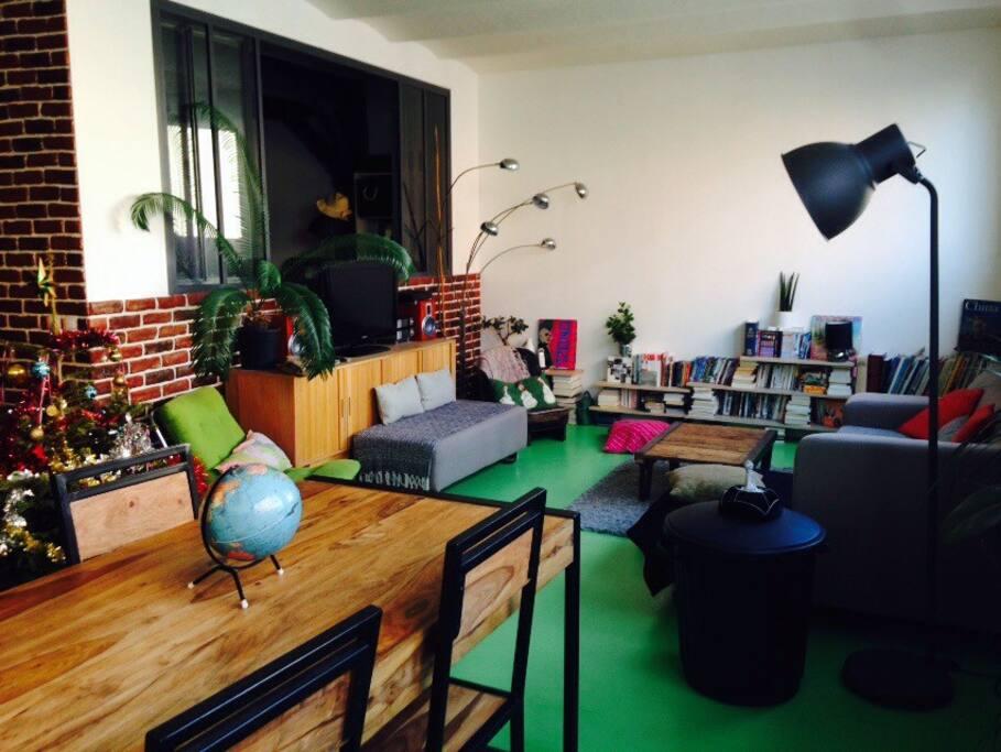 Loft 120m2 3 chambres rue calme appartements louer paris le de fra - Achat loft ile de france ...