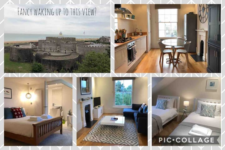 Deal Hideaway - stunning views of the castle & sea