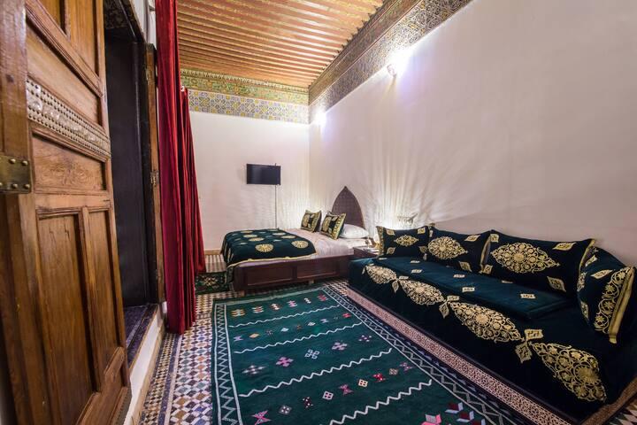 Moroccan riad Rahma room in Fes