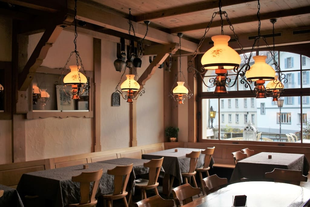Our beautiful dining hall and soon-to-be restaurant
