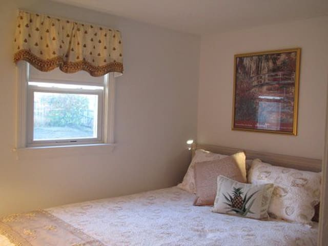 This is the queen bedroom. We also have one with a king bed and one with 2 twins