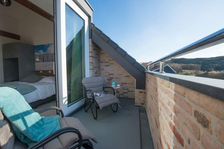 Luxe kamers aan de duinen