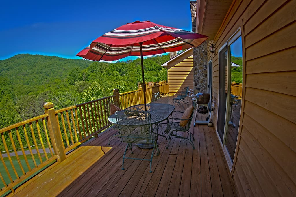 breathtaking moutain views from open deck