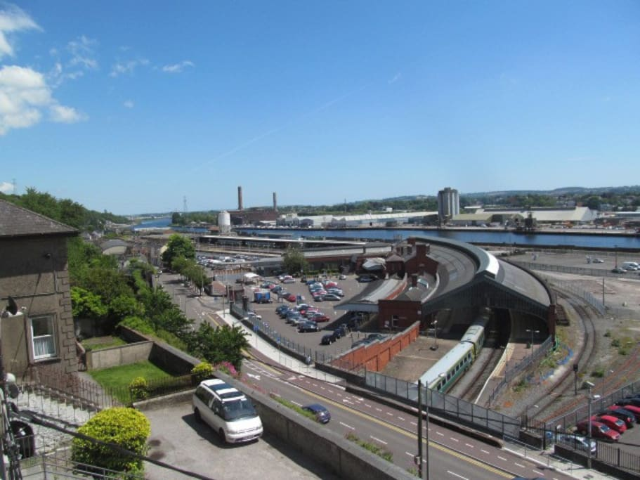 Magnificent views along the River Lee, as far as the Port of Cork to the east..