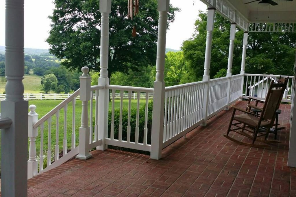 Relax on the front porch and soak in the beautiful views while enjoying your morning coffee.