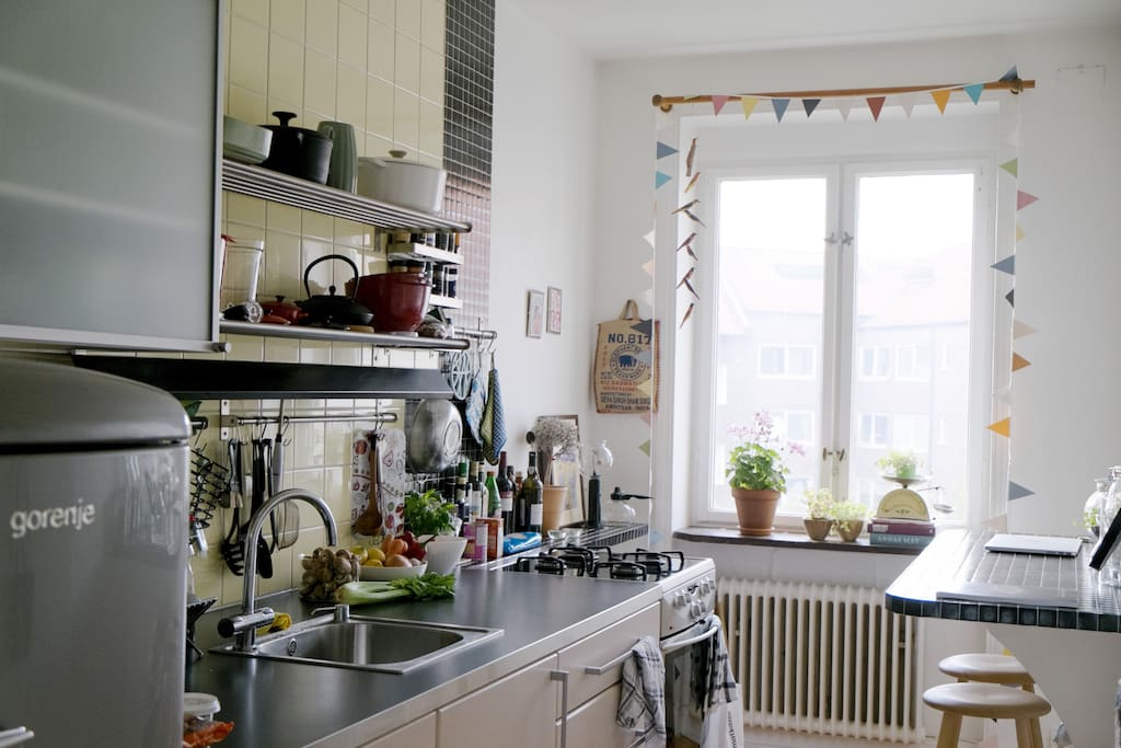 Bright and personal kitchen