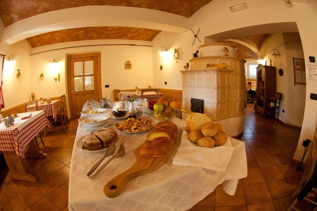 Sala colazioni dell'Agritur
