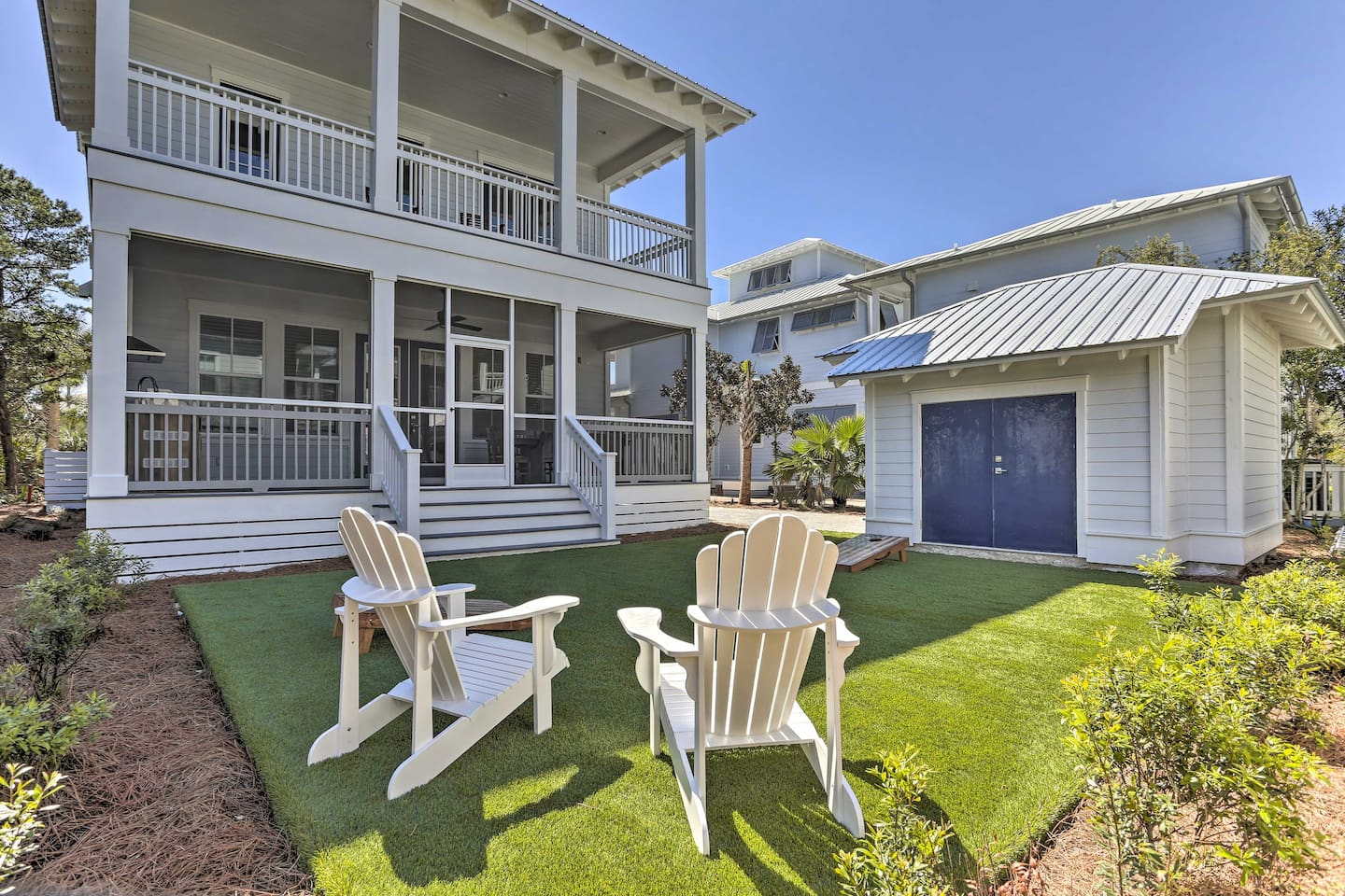 Book a trip to this lavish 5-bedroom, 5.5-bathroom vacation rental home in PCB.