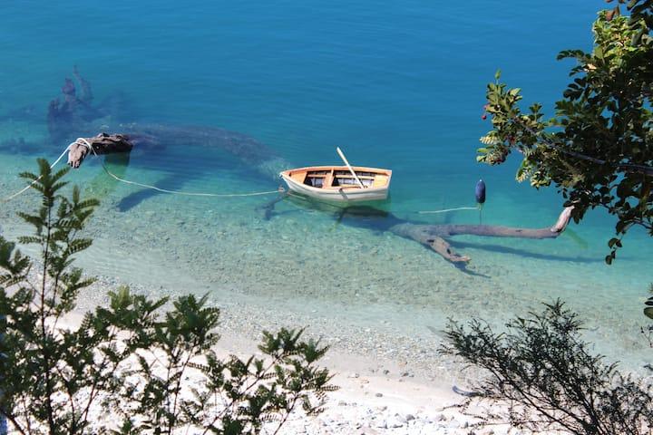 Caburgua Lake, private beach.