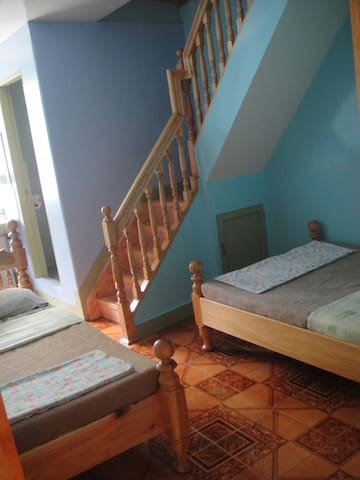 First floor, good for family or friends.