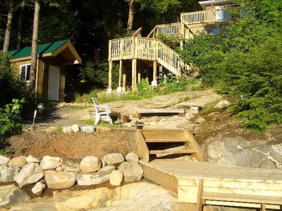 The Bunkie and firepit