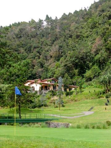 View of Villa 12 from the golf course