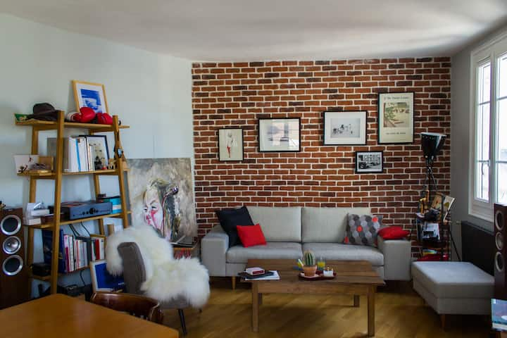 Cosy & design flat in Le Marais