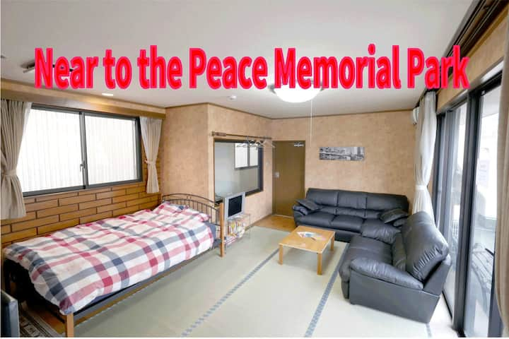 Very Near to the Peace Memorial Park with Big Room