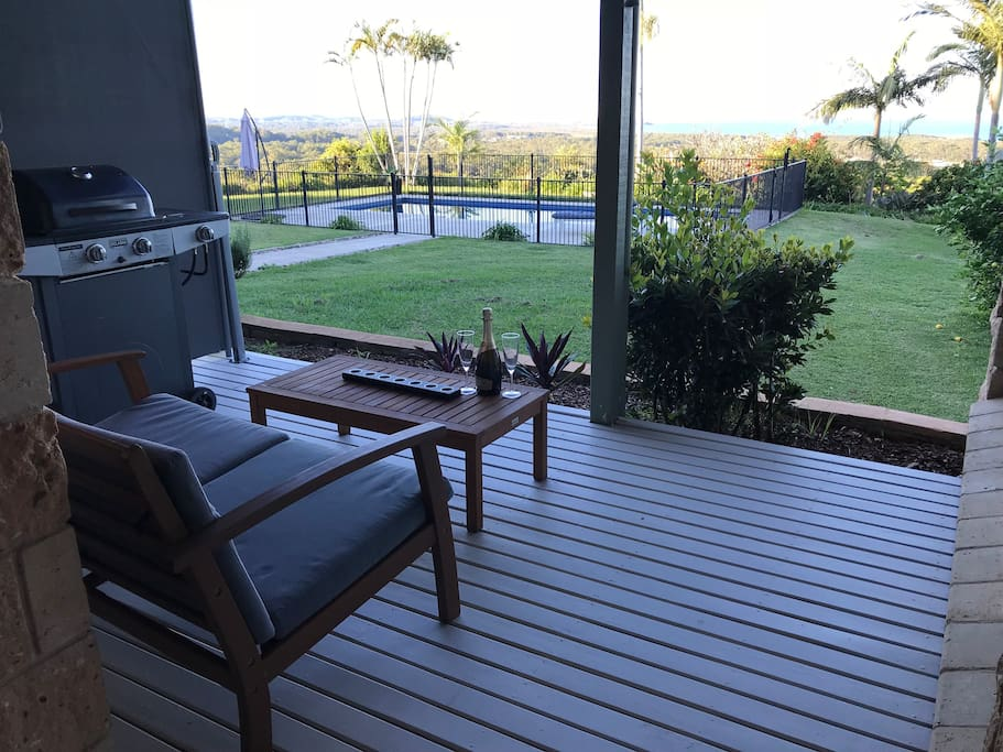 Enjoy magnificent sunrises and sunsets from your own private deck
