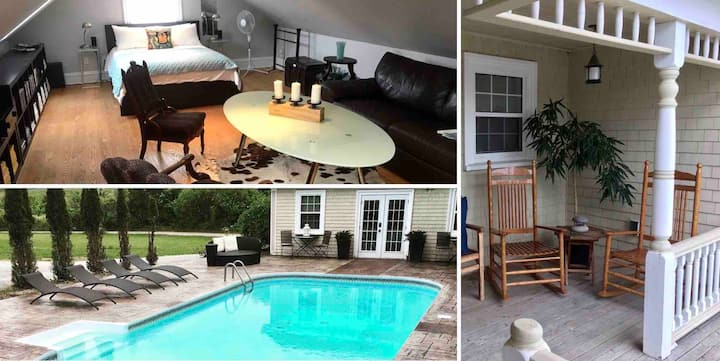 Private Suite ~ Historic Acreage ~ Pool & Hot-tub!