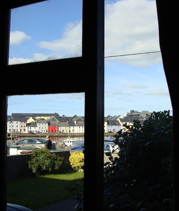 A postcard view from the window of your room