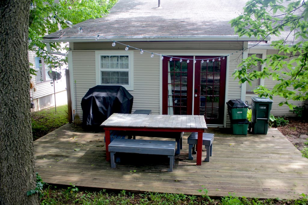 Back deck with BBQ grill.
