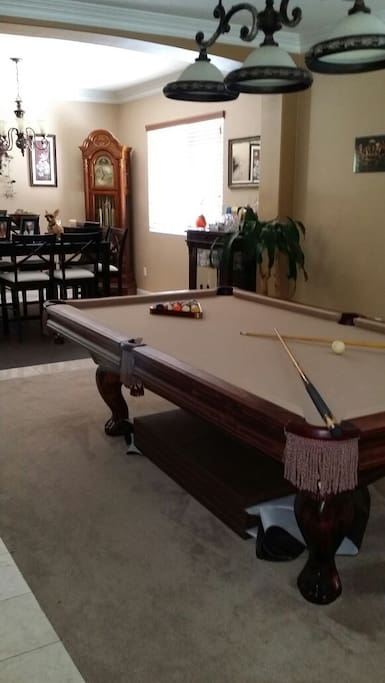 Enjoy a game at the pool table