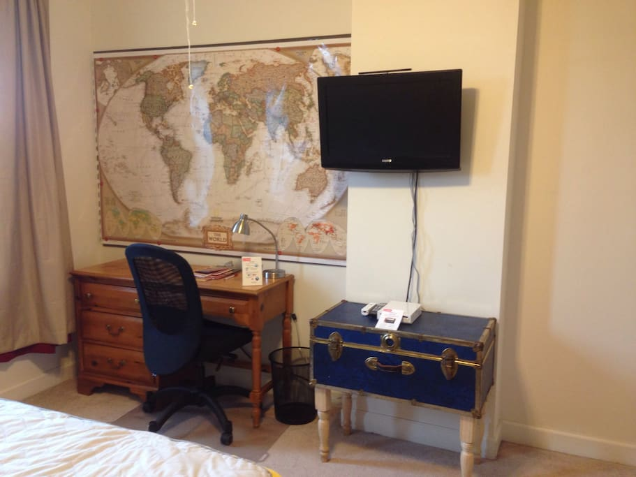 The room features a television with access to Netflix. There is also a nice desk and office chair for any work you may need to do during your stay.