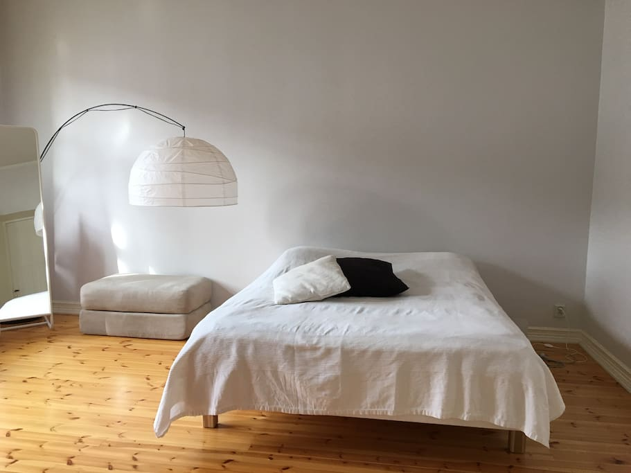 Big bedroom with double bed