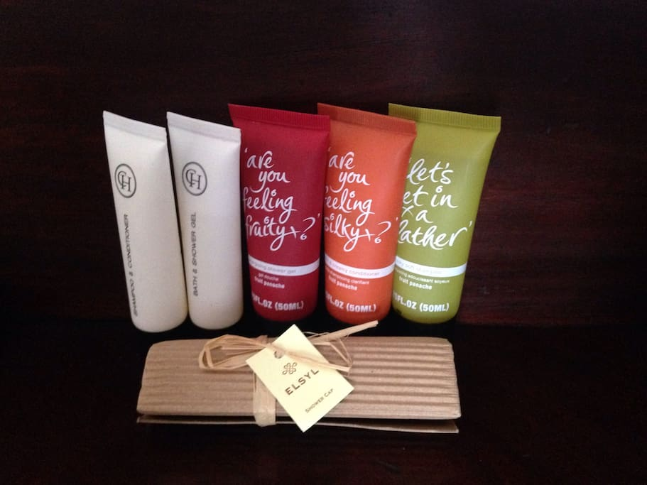 A range of toiletries for you