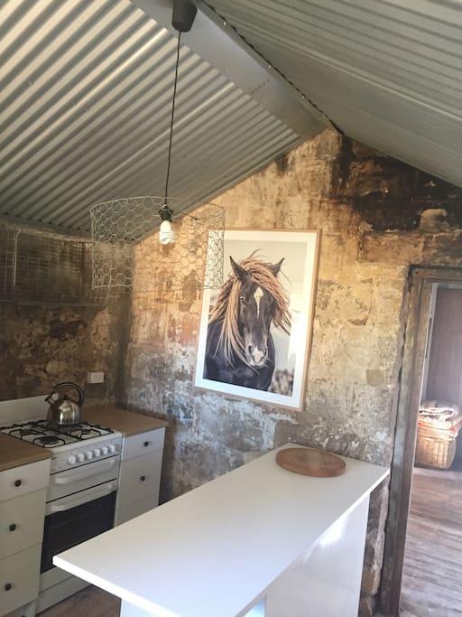 Old stone/new kitchen