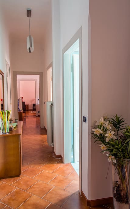 The hallway, connecting all rooms