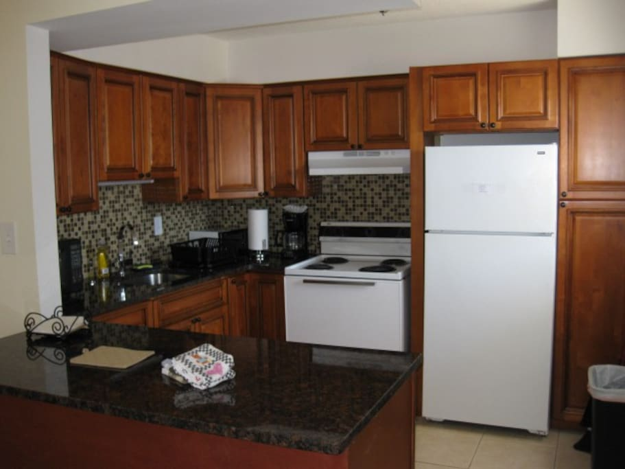 Gourmet kitchen with all cooking & serving itmes