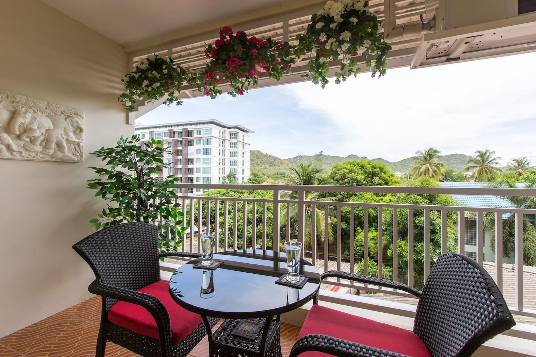 Lovely large balcony