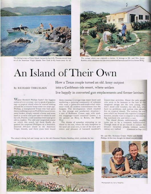 Interesting article on Water Island.