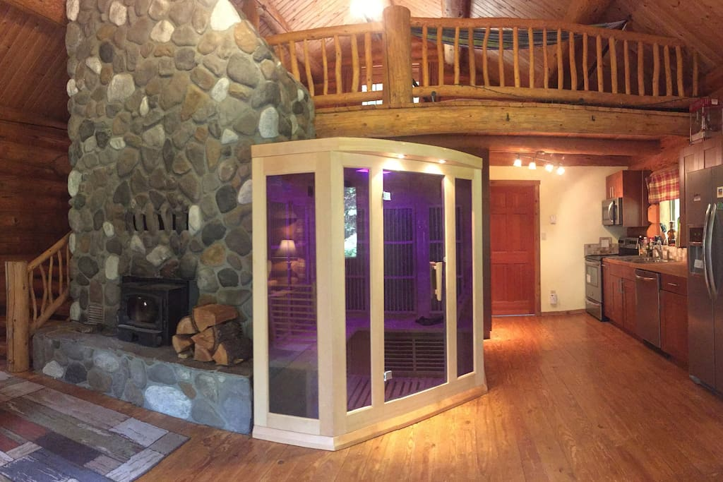 Fireplace and Infrared Sauna