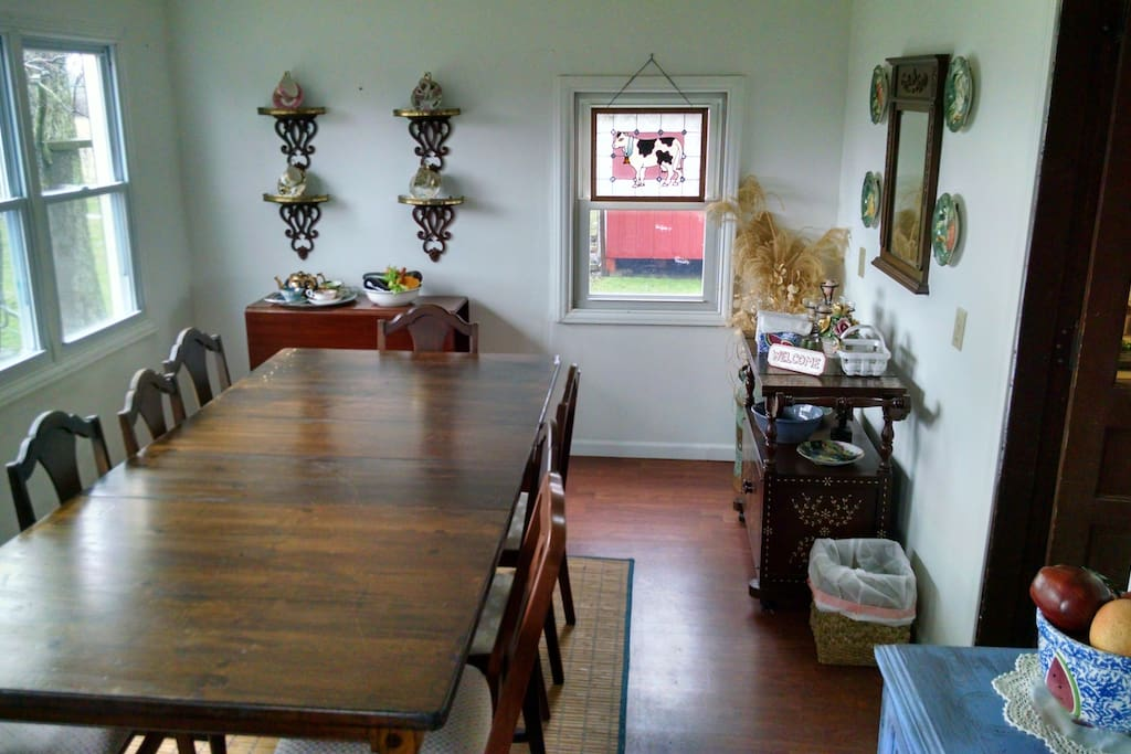 Dining room w/scenic view