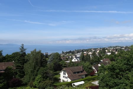 Charming House with panoramic view lake, garden - Paudex - Hus
