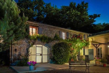Old stonebuilt Provencale 'Mas', swimmingpool Ba - Pont-de-Barret