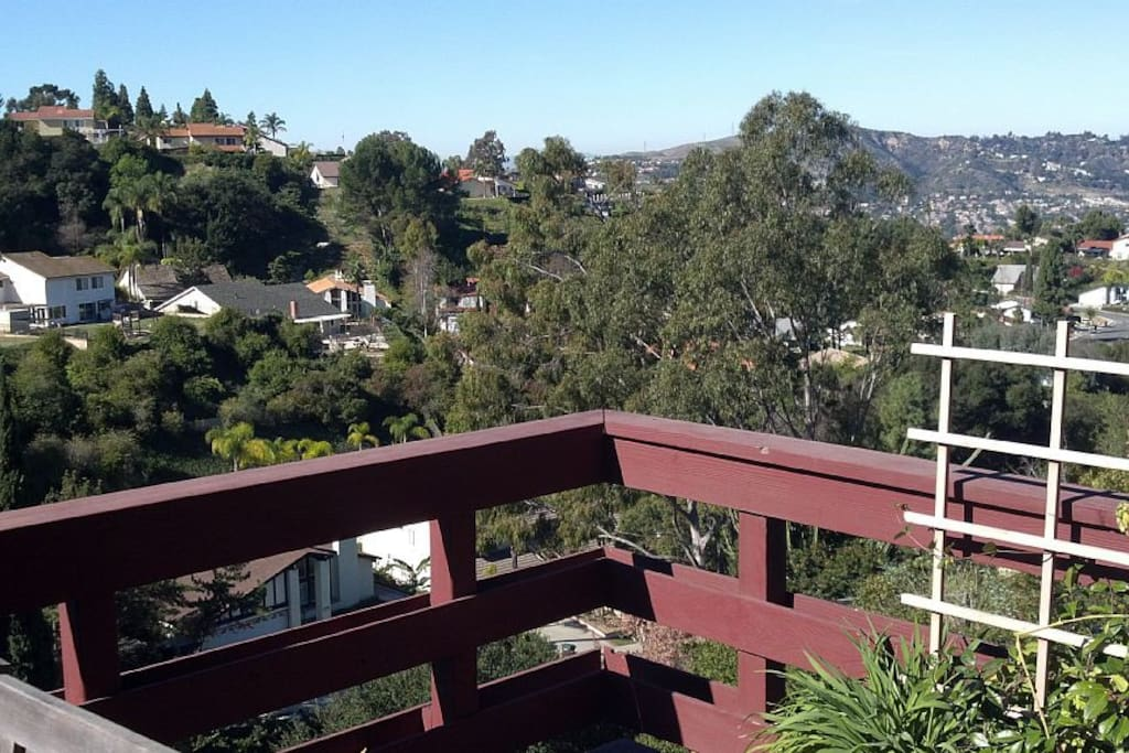 Daytime view from your private deck.
