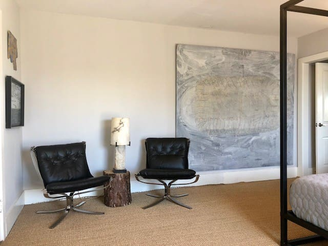 Master bedroom seating area to read