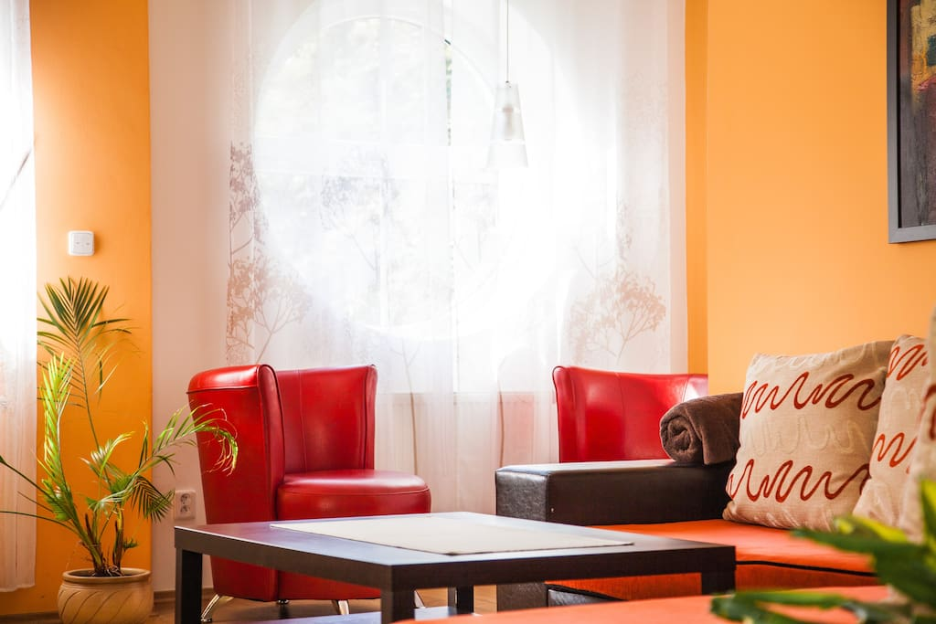 Obývací pokoj - kávový koutek.