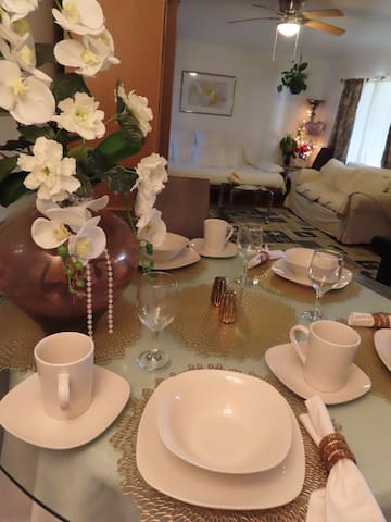 We supply lots of dinner wear for larger reunions of families, friends, engagements.  It's all here for you to save you time & money.  Simply enjoy your self & feel peaceful, loved & cared for.