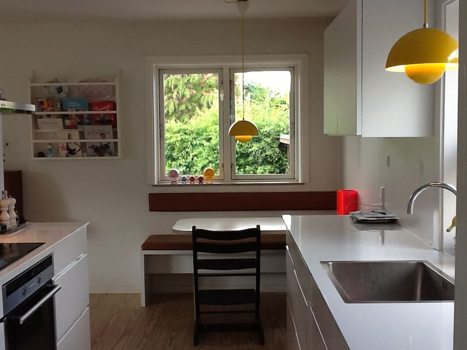 Kitchen with cosy seating