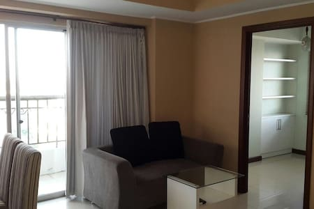 It's 72m square with 3rooms and 2bathroom it's located on front of Supermall Pakuwon Indah