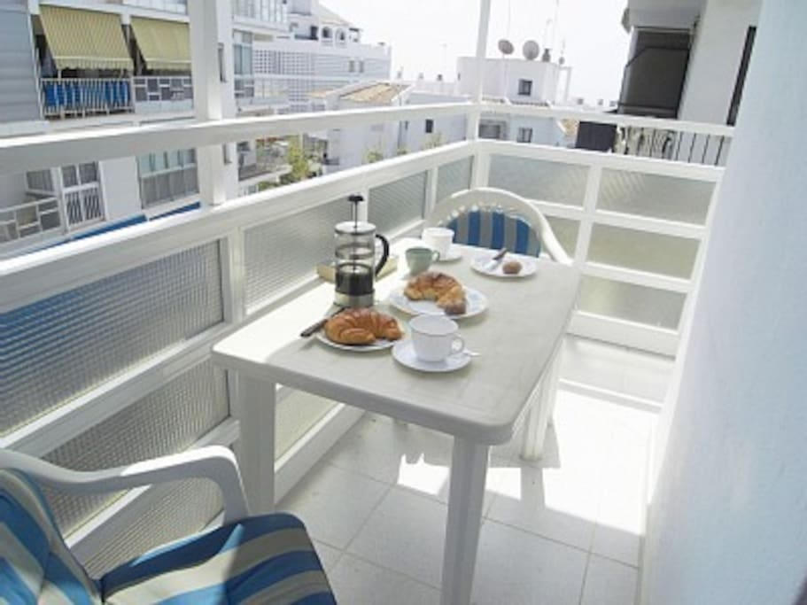 Private balcony for sunny breakfasts