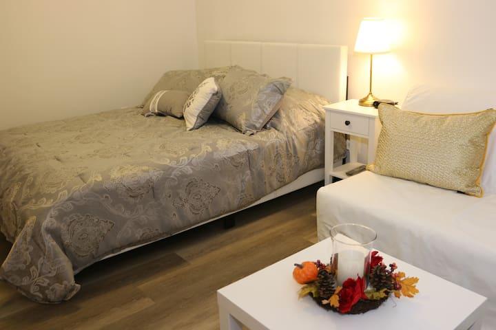 New Luxury Midtown 1 Bed+Den Apt, Parking, Netflix