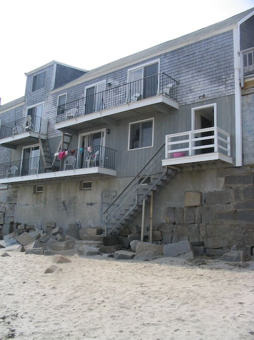Beach side of building