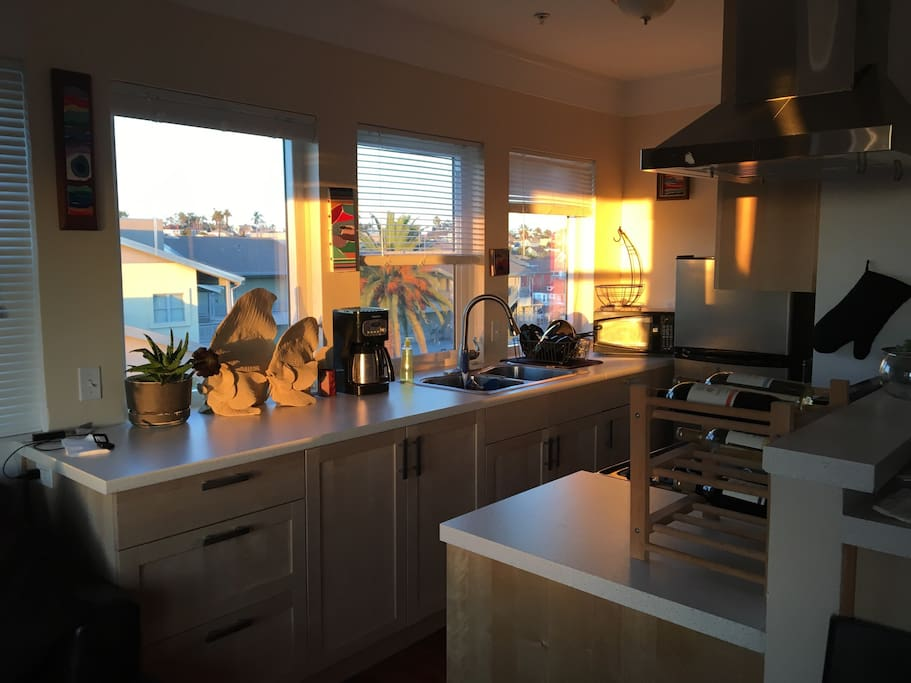 Fully accessible kitchen with microwave and toaster